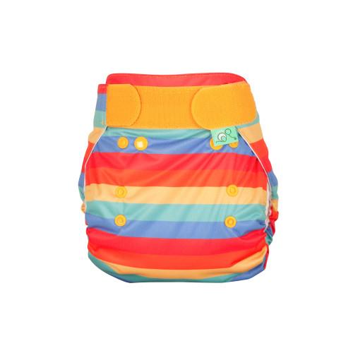 TotsBots PeeNut wrap Rainbow Stripe front