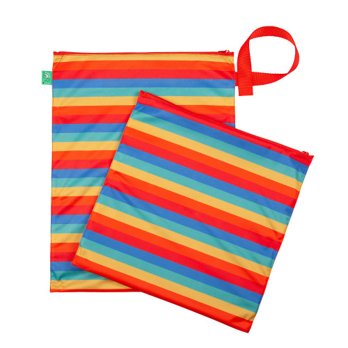Nappy Bag Wet & Dry Rainbow Stripe