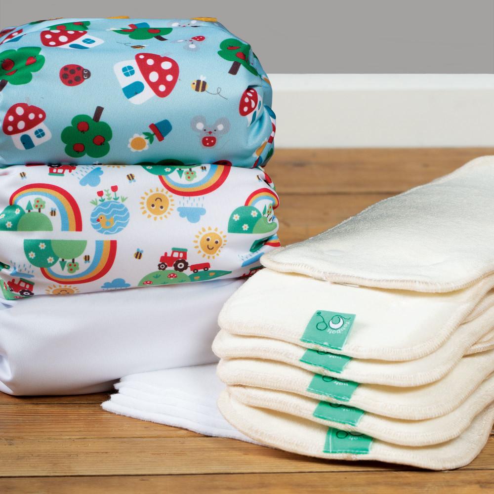 Newborn Bamboozle daytime nappy 5-pack