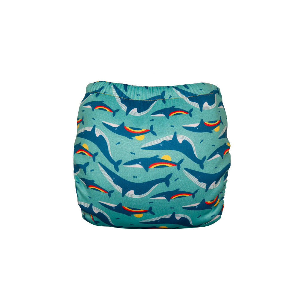 Swim Nappy Rainbow Whales