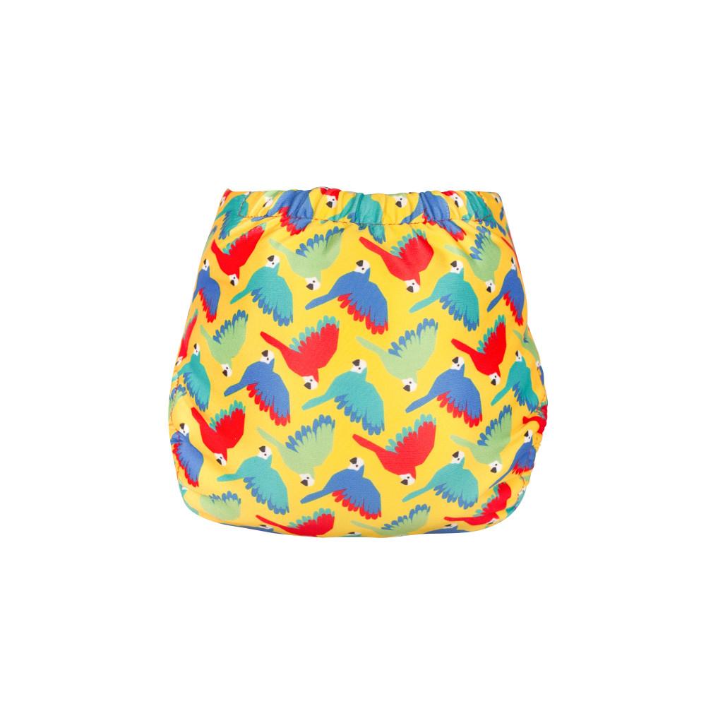 Swim Nappy Bright Yellow Parrots
