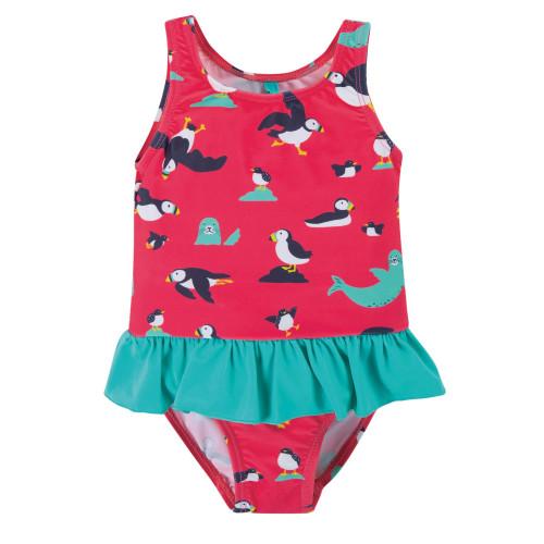 TotsBots - Frugi organic swimwear - Little coral swimsuit - Puffling paddle