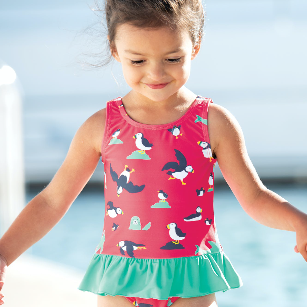 Frugi Little Coral Swimsuit