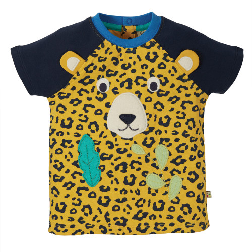 TotsBots - Frugi organic clothes - Happy raglan t-shirt - Leopard