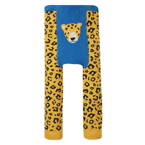 TotsBots - Frugi organic clothes - Little knitted leggings - Leopard